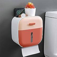 WC-rolhouder, zelfklevend waterdicht, wandmontage, badkamer, keukenpapierhouder-Roze