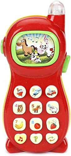 VIKASGIFTGALLERY Learning Mobile Phone Toy for Kids with Image Projection, Multicolor