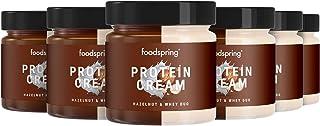 foodspring Crema Proteica, Whey y Avellanas, Pack de 6 x 200g, Extremadamente cremosa, Con 85% menos de azúcar