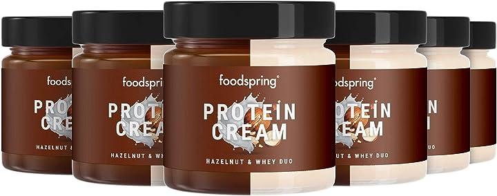 Crema proteica foodspring duo, 6 x 200g, nocciola e whey B083M8VLJQ