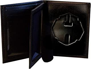 NY City Firefighter Badge Wallet with Black Matrix and Yellow Tape