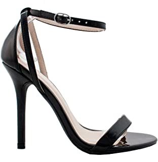 Womens Fashion Ankle Strap Cut Out Sandals Pump Stiletto High Heel Shoes