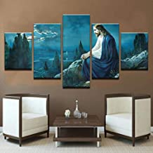 TYUIOP 5 posters printed on canvas wall artwork/pictures of Jesus Christ painting living room home decoration