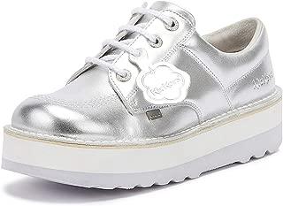 Kickers Kick Lo Stack Womens Metallic/Silver Shoes