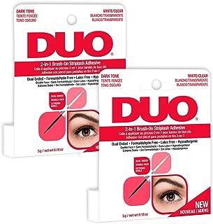 DUO 2-in-1 Brush On Clear & Dark Adhesive, 0.18 oz x 2 packs
