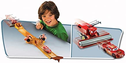 Mattel Disney Cars Radiator Springs Classic Tip-The-Tractors Diecast Car Track Set