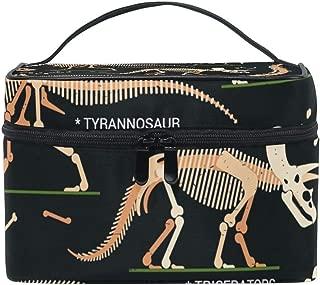 Cosmetic Case Bag Dinosaur Skeleton Portable Travel Makeup Bag Toiletry Organizer