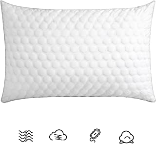 LMIKAF Bed Pillows for Sleeping(1-Pack) Luxury Hotel Collection Gel Pillow for Side Back and Stomach Sleeper- Queen Size