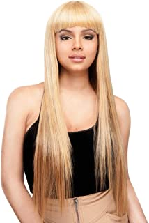 R&B COLLECTION 100% Human Hair Blended Wig -UBA (#1B - Off Black)