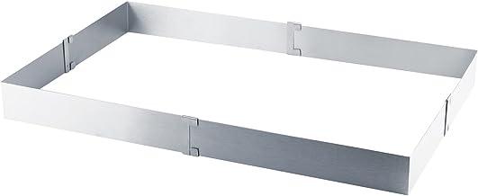 Grizzly Molde rectangular ajustable para horno de acero inoxidable.