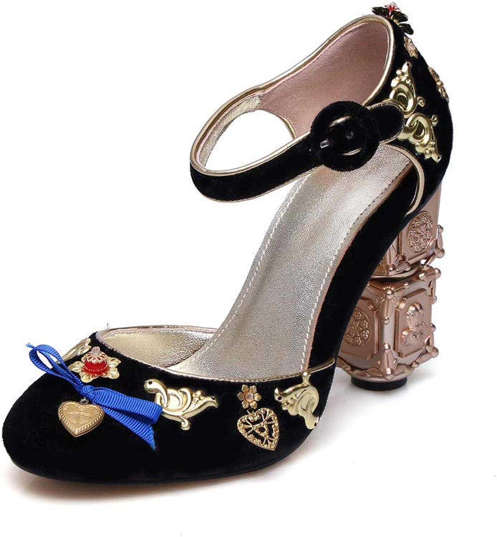 Sandalen Europa Und Amerika Damen Samt 10Cm Mode Wilden Perlen Hochzeit Schuhe Gre High Heel Sandalen
