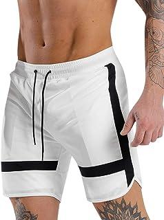 202468397cfb Rcool Costume Uomo Mare per Pantaloncini e Calzoncini Striscia Costumi da  Bagno Uomo Calzoncini Asciugatura Rapida