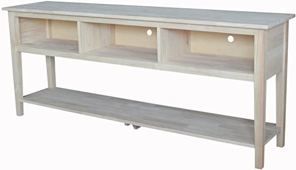 International Concepts Unfinished Entertainment TV Stand 72 Inch Unfinished
