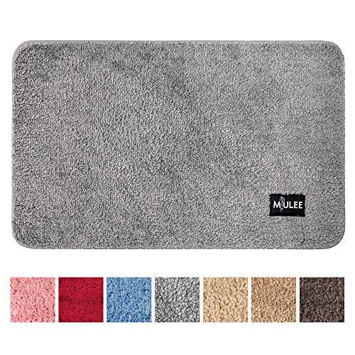 MIULEE Dekorative Teppiche Saugfähige weicher Rechteck mit hoher Hydroskopizität Modern Teppich für Wohnzimmer Schlafzimmer 50 X 80cm Grau