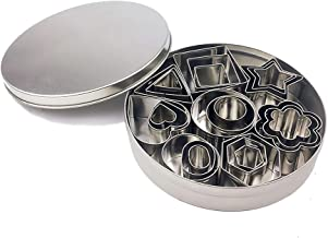 Cookie Cutter,Mini Geometric Shape Cookie Cutter Set Baking Stainless Steel Metal Mold