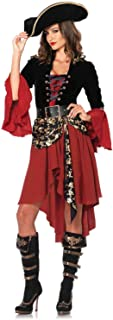 Leg Avenue Women's 2 Piece Cruel Seas Captain Pirate Costume