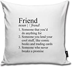 Stranger Things Friend Definition Throw Pillow Case Cushion Cover for Gift Home Couch for Bed Car Sofa Size:18X18inch