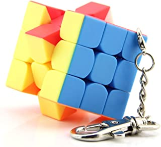 Starabu Mini 3x3x3 Keychain Magic Cube Stickerless Speed Cube Puzzle Educational Toy for Children Kids