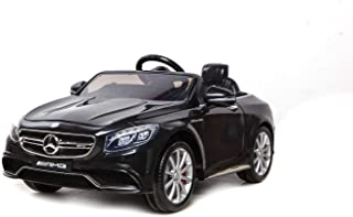 Mercedes S63 AMG Kids Ride on Car with 12V twin motors 2 forward speeds mp3 input- Black