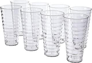Splash 28-ounce Plastic Tumblers   set of 8 Clear