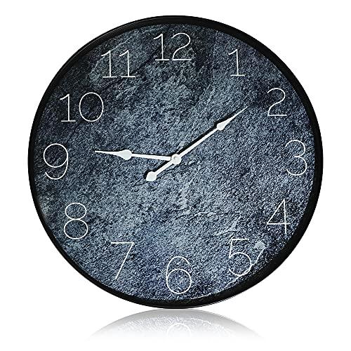 Reloj de pared silencioso, reloj de pared digital grande, reloj de pared de cuarzo de 20 pulgadas, reloj de pared de diseño moderno para escuela, oficina, sala de estar, dormitorio (51 x 51 x 4,2 cm)
