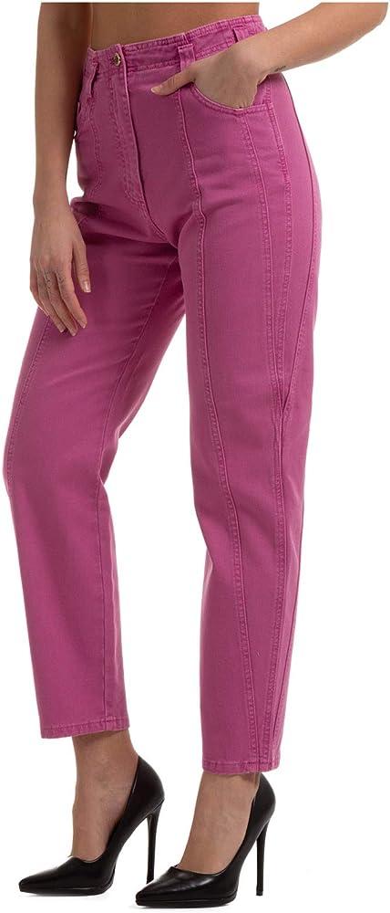 Alberta ferretti, pantalone da donna rosa,in cotone al 100 % A031416790238