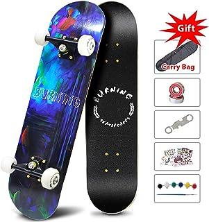 Easy_Way Complete Skateboards -Standard Skateboards for Beginners Starter Kids Boys Girls Youths - 31''x 8''Canadian Maple Pro Cruiser Standard Skate Boards