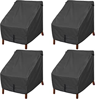 Porch Shield Patio Chair Covers - Waterproof Outdoor Single Armchair High Back Adirondack Chair Cover 4 Pack - 30W x 33D x...