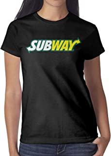 Ruslin Women's Subway Logo Tshirt Short-Sleeve Cotton