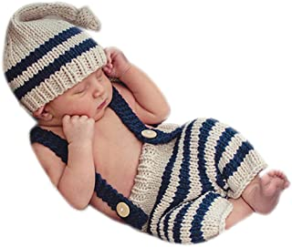 Newborn Photography Props Baby Boy Girl Outfits Infant Accessories Clothes Toddler Costume Hat Pants