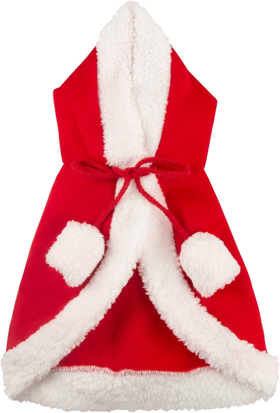 LERTREE Christmas Pet Cloak with Hat Red Santa Poncho Cape Xmas Party Costume for Puppy Dog and Cat S