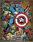 Laminiert Marvel Comics (Captain America Retro) - Mini