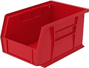 Akro-Mils 30237BLACK plastik istiflenebilir asmak için Akro bin, 9–1/4inç 612,7cm, siyah, 30237RED
