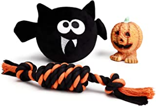 Halloween Dog Toy - Squeaky Toy, Stuffed Dog Toy, Dog Rope Toy, Squeaker Dog Toy, Cute Dog Toy - 3 Pack
