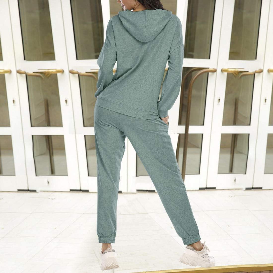MoneRffi Womens Tracksuit Set Jogging Suit 2 Pieces Set Outfits Hoodie Leisure Suit Sportswear Clothing Set Leisurewear Sports Suit For Women