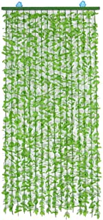 Aida Bz Leaf Strings Pasta Door Beads Lightweight Curtain Room Decoration, Green,90×220CM