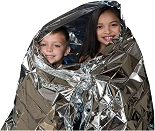 OIG Brands Emergency Thermal Blanket Mylar 10 Pack - Weatherproof and Perfect for Emergency Preparedness, Survival Gear, 72 Hour Kits, Camping