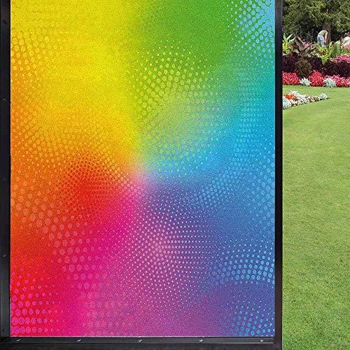Película de privacidad para ventana de arco iris, para ventana, decoración estática, 60 x 90 cm
