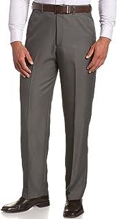 Sportoli Men's Cool Classic Fit Hidden Expandable Waist Plain Front Dress Pants