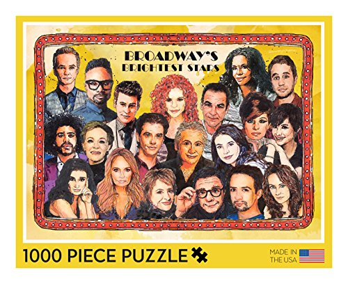 Broadway Puzzle - 1000 Piece Broadway Puzzle Featuring Watercolor Portraits of 20 Broadway Celebrities