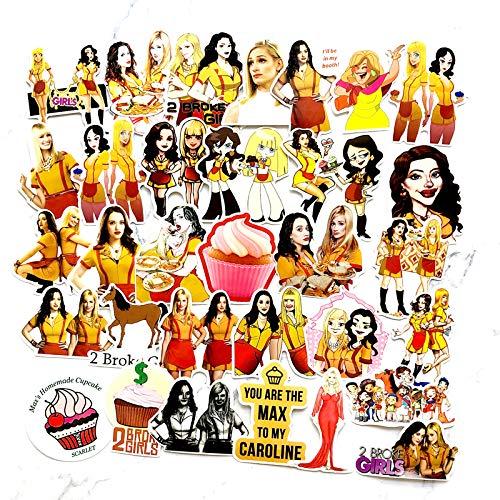 HHSM Broke Girls - Pegatinas para equipaje, equipaje, equipaje, equipaje, portátil, roto, niñas, 50 unidades