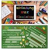12er Set Einladung zur Einschulung TABLET - Einladungskarten zum Schulbeginn Schuleingang Schulanfang für Kinder Einschulungskarten von BREITENWERK