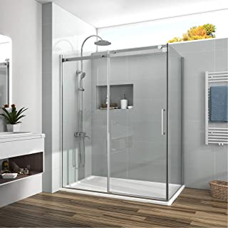 Meykoers 60 x72 inch Frameless Sliding Shower Enclosure 1/3