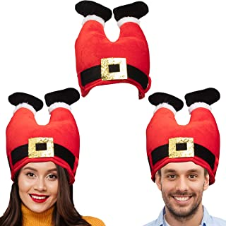 3 Pack, Christmas Hat Set: Christmas Tree Hat or Santa Hat Bulk for Christmas Costumes for Adults and Kids