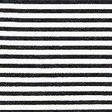 Fabulous Fabrics Nicki Stoff Streifen – schwarz/Weiss —