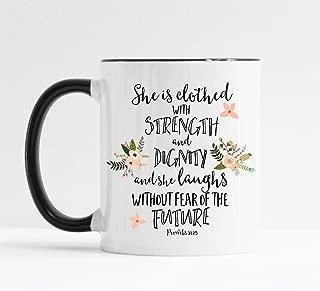 She Is Clothed With Strength and Dignity Mug Christian Mug
