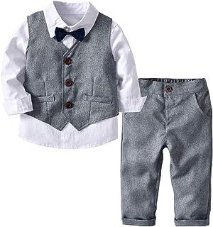 Tancurry Jungen Gentleman Smoking Anzug Fliege 4tlg Babykleidung Schicker Taufanzug