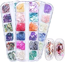 36 Colors Nail Art Holographic Glitter Shell Sequins Iridescent Mermaid Flakes Sticker Manicure Nail Art Supplies (BY BK BH)
