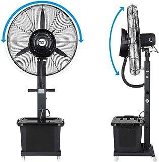 Jyfsa Ventilador de Ventilador de fábrica móvil Ventilador eléctrico Comercial, Ventilador de pulverización de Niebla vibratoria Humidificador de calefacción de Piso Vertical, 75 cm (Negro)
