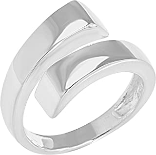 """Sculpture Collection"" Women's Sterling Silver Overlap Ring, Includes Product Care Bundle"